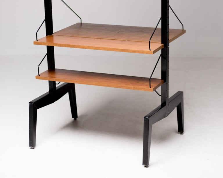 Poul Cadovius Royal System Room Divider with Desk For Sale 3