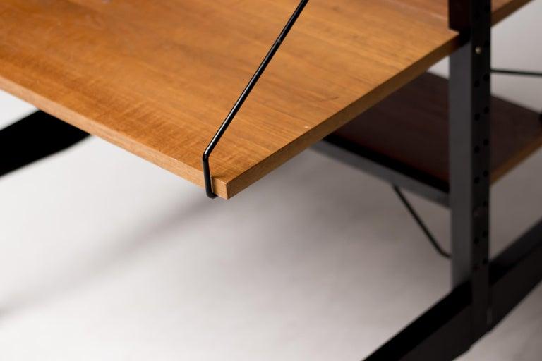 Danish Poul Cadovius Royal System Room Divider with Desk For Sale