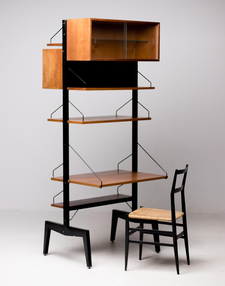20th Century Poul Cadovius Royal System Room Divider with Desk For Sale