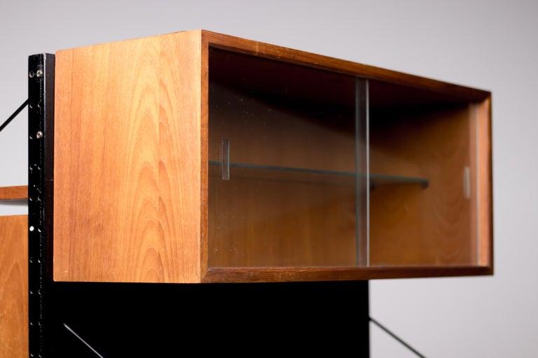 Brass Poul Cadovius Royal System Room Divider with Desk For Sale