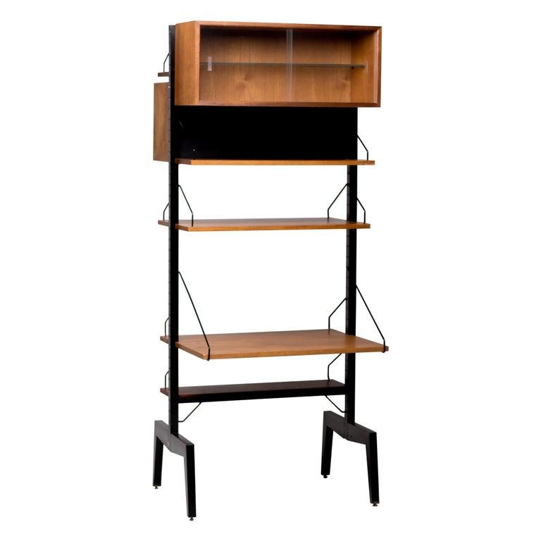 Poul Cadovius Royal System Room Divider with Desk For Sale