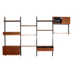 Poul Cadovius Royal Teak Wall Unit, Denmark, circa 1960