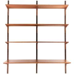 Poul Cadovius Teak Midcentury Wall Unit Shelving Bookcase Danish, 1960s