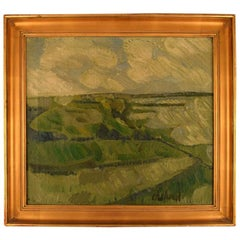 Poul Ekelund Danish painter, Oil/Canvas, Modernist Landscape