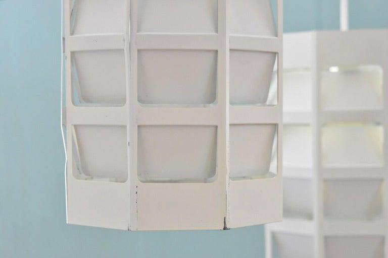 Metal Poul Gernes Pendant Lamp Hedron Lyskurv Louis Poulsen Denmark For Sale