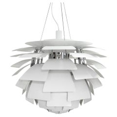 Poul Henning for Poulsen Denmark, White PH Artichoke Ceiling Lamp 72 cm