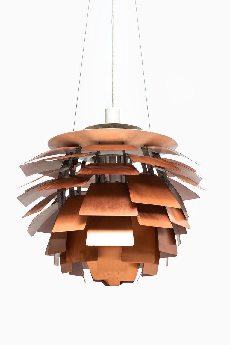 Scandinavian Modern Poul Henningsen Artichoke Ceiling Lamp Produced by Louis Poulsen in Denmark For Sale