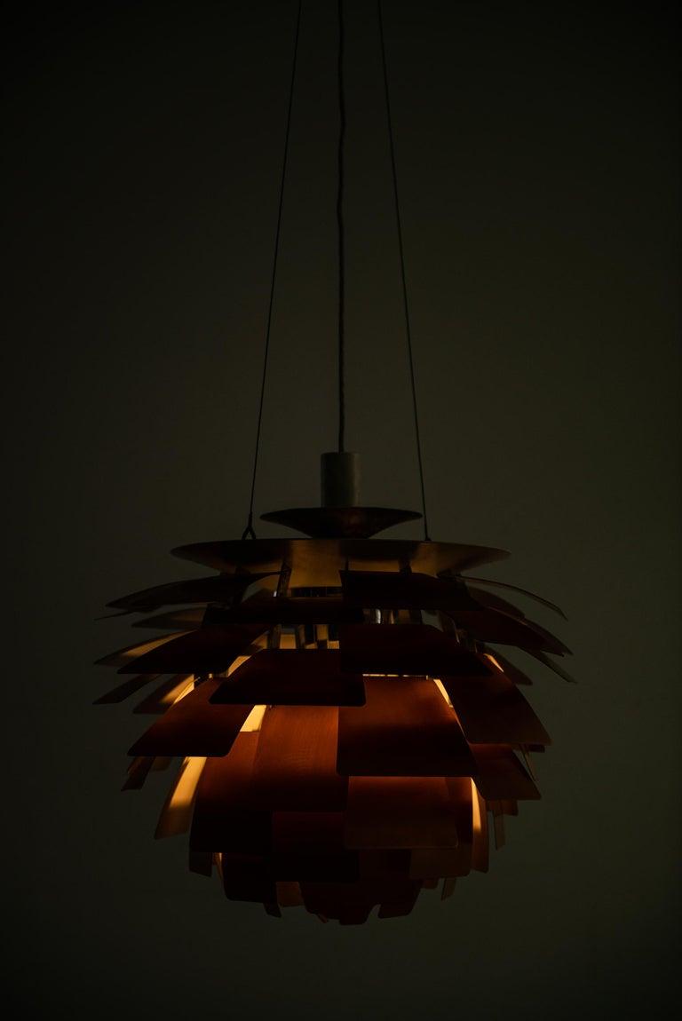 Danish Poul Henningsen Artichoke Ceiling Lamp Produced by Louis Poulsen in Denmark For Sale