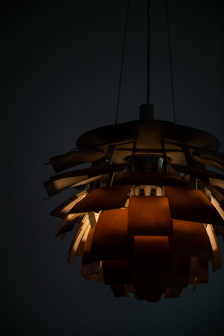 Poul Henningsen Artichoke Ceiling Lamp Produced by Louis Poulsen in Denmark In Good Condition For Sale In Malmo, SE