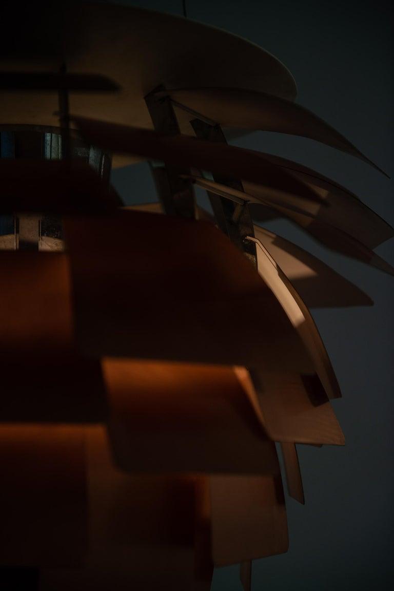 Mid-20th Century Poul Henningsen Artichoke Ceiling Lamp Produced by Louis Poulsen in Denmark For Sale