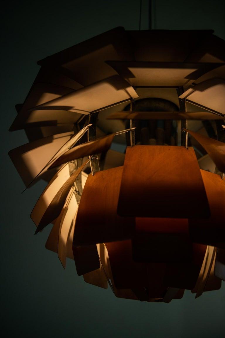 Copper Poul Henningsen Artichoke Ceiling Lamp Produced by Louis Poulsen in Denmark For Sale