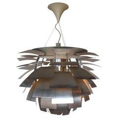 Poul Henningsen Artichoke Chandelier in Brushed Steel for Louis Poulsen XL Size