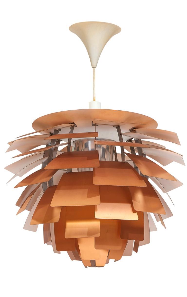 Poul Henningsen for Louis Poulsen Artichoke pendant light, Denmark, circa 1957. Copper, aluminum, and enameled steel.