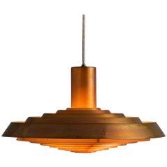 Poul Henningsen Copper 'Plate' Pendant for Louis Poulsen