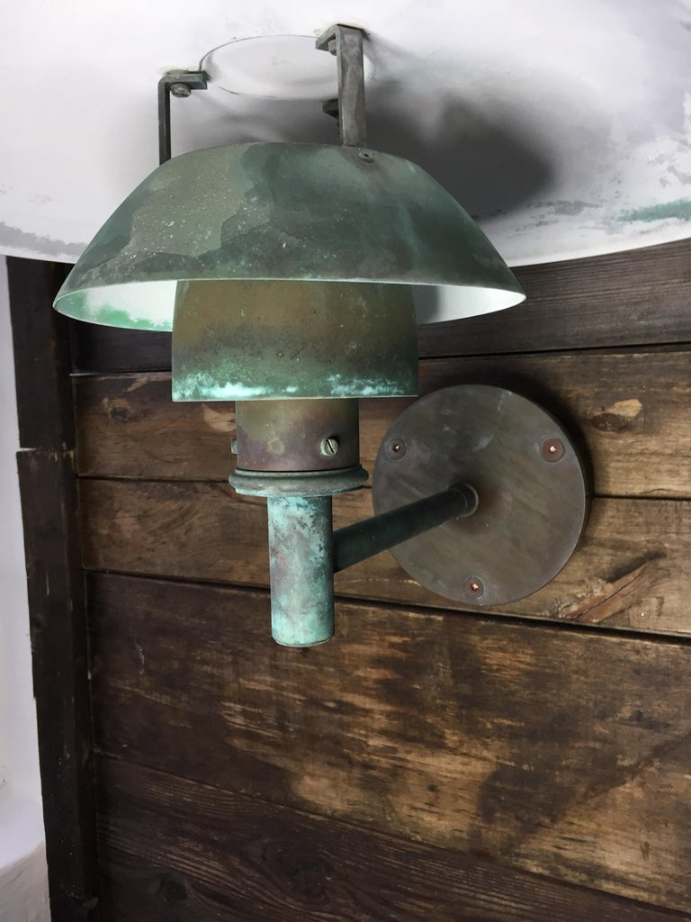 Late 20th Century Poul Henningsen Copper Wall Lamps by Louis Poulsen For Sale