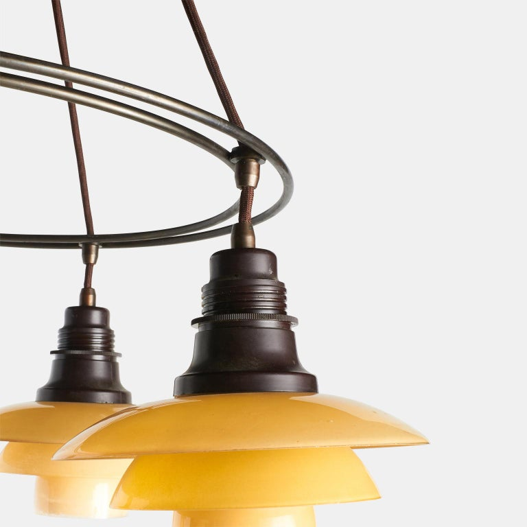 Poul Henningsen Double Ring Chandelier In Excellent Condition For Sale In San Francisco, CA