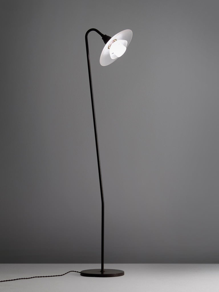 Poul Henningsen for Louis Poulsen, PH-7 floor lamp, metal, glass, Denmark 1933  Wonderful example of standing lamps from superb Danish quality. This example, also named 'PH-7' or the 'Standard lamp' was designed by Poul Henningsen in 1933, and