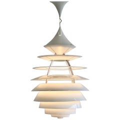 Poul Henningsen & Kurt Norregaraard, Large Pendant 'LP Centrum,' in Aluminum