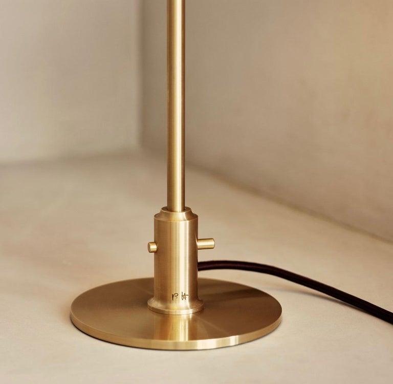 Scandinavian Modern Poul Henningsen Amber & Brass PH 3/2 Table Lamp, Louis Poulsen For Sale