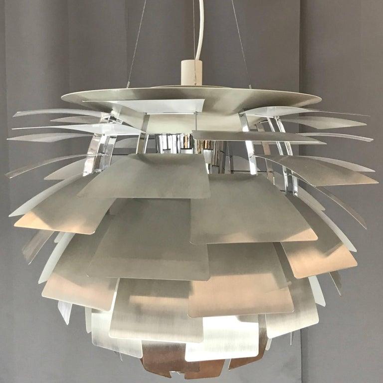 A Monumental Steel Ph Artichoke Pendant Light By Poul Henningsen For Louis Poulsen In The Largest