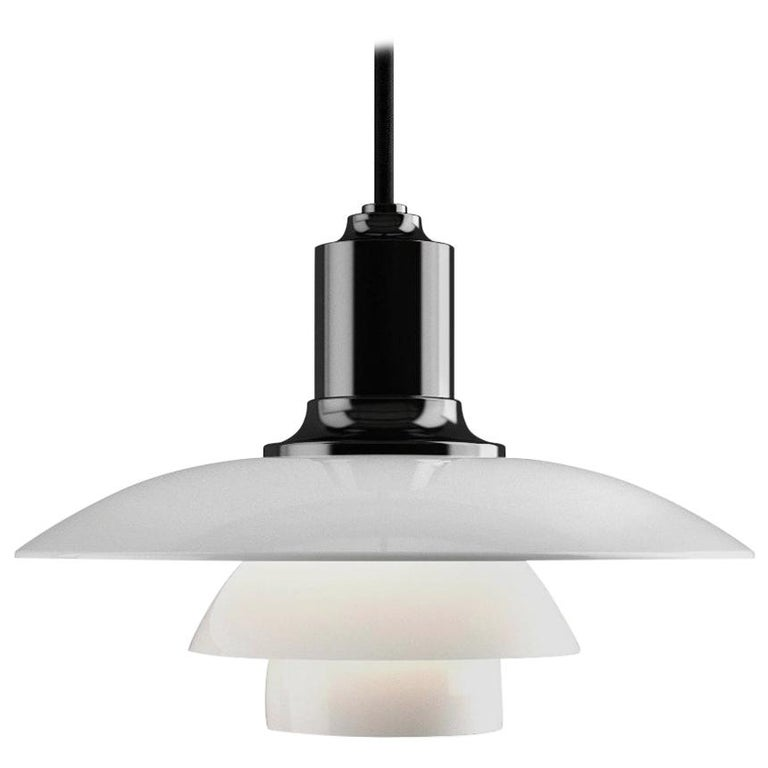 Poul Henningsen PH 2/1 Opaline Glass Pendant for Louis Poulsen For Sale