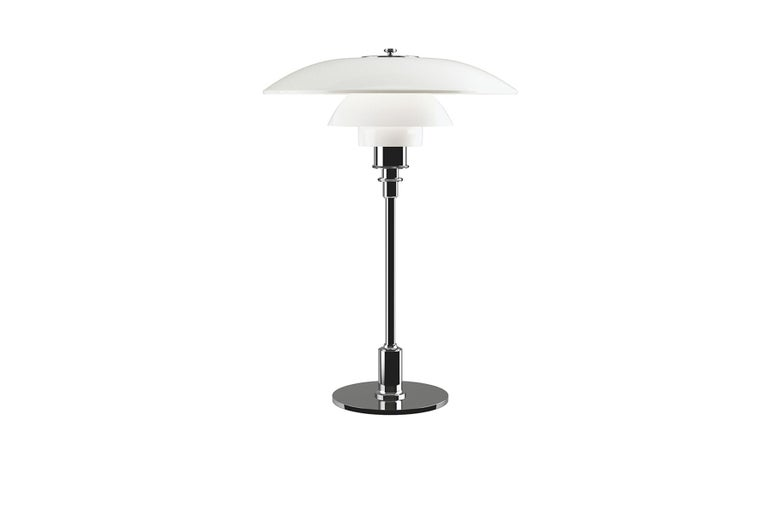 Mid-Century Modern Poul Henningsen Ph 3½-2½ Glass Table Lamp For Sale