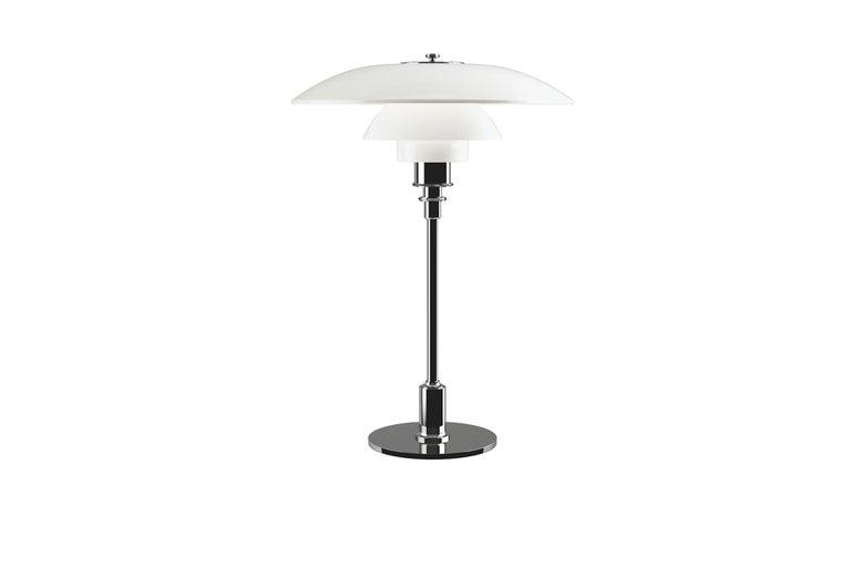 American Poul Henningsen Ph 3½-2½ Glass Table Lamp For Sale