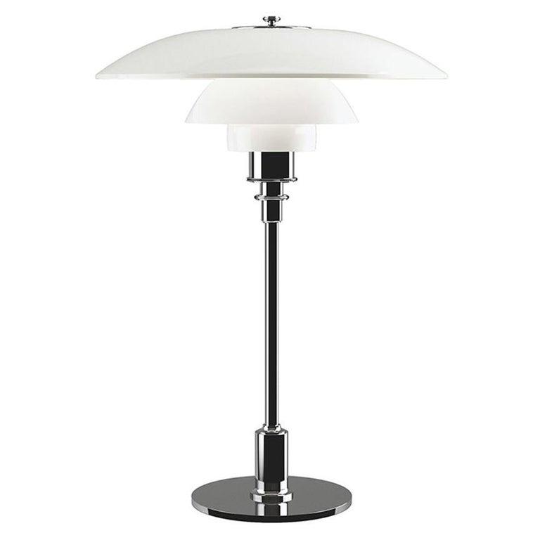 Poul Henningsen Ph 3½-2½ Glass Table Lamp For Sale