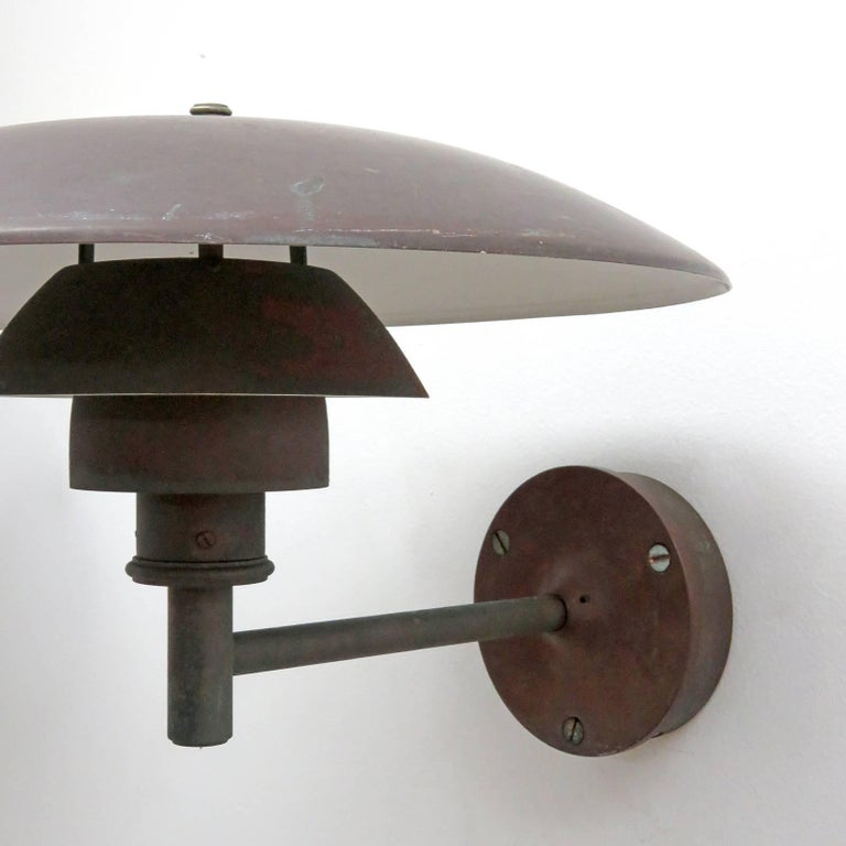 Copper Poul Henningsen PH 4½/3 Wall Lights For Sale