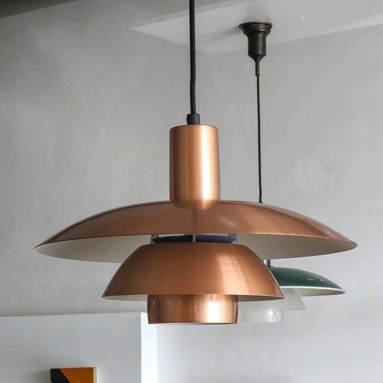 Scandinavian Modern Poul Henningsen PH 4½/4 Copper Pendant