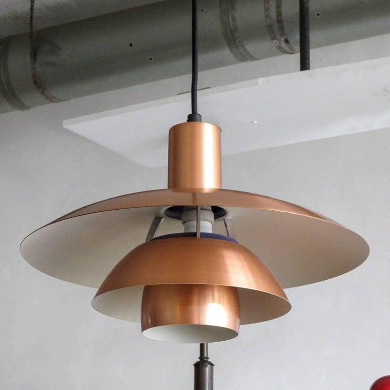 Danish Poul Henningsen PH 4½/4 Copper Pendant