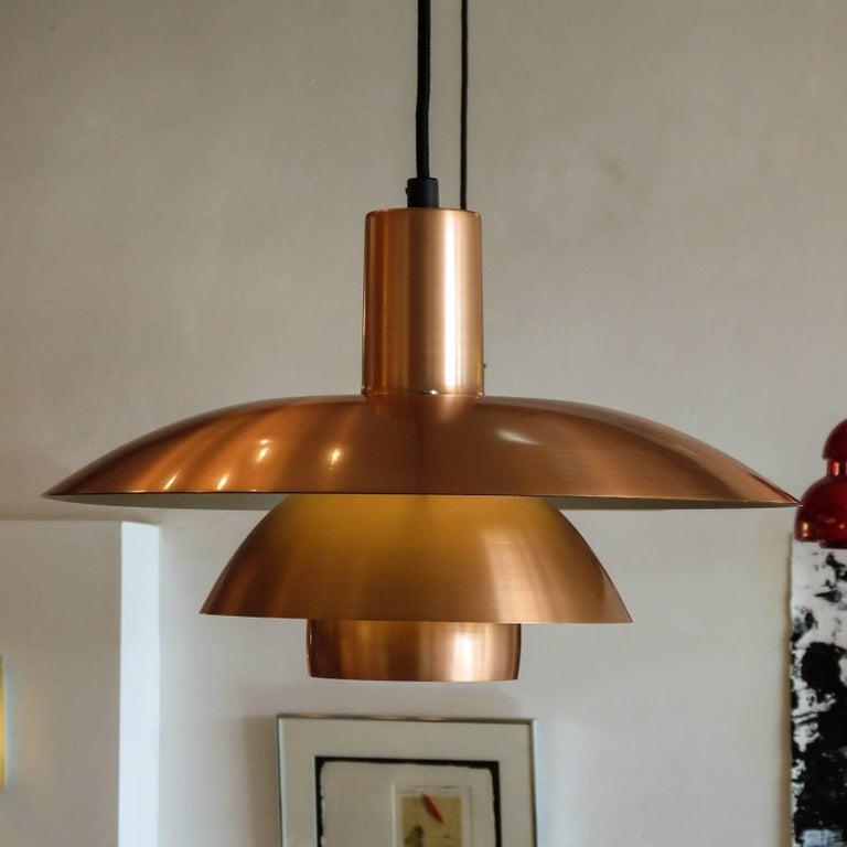 20th Century Poul Henningsen PH 4½/4 Copper Pendant