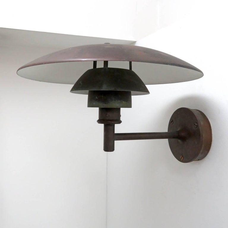 Scandinavian Modern Poul Henningsen PH 4½/3 Wall Lights For Sale