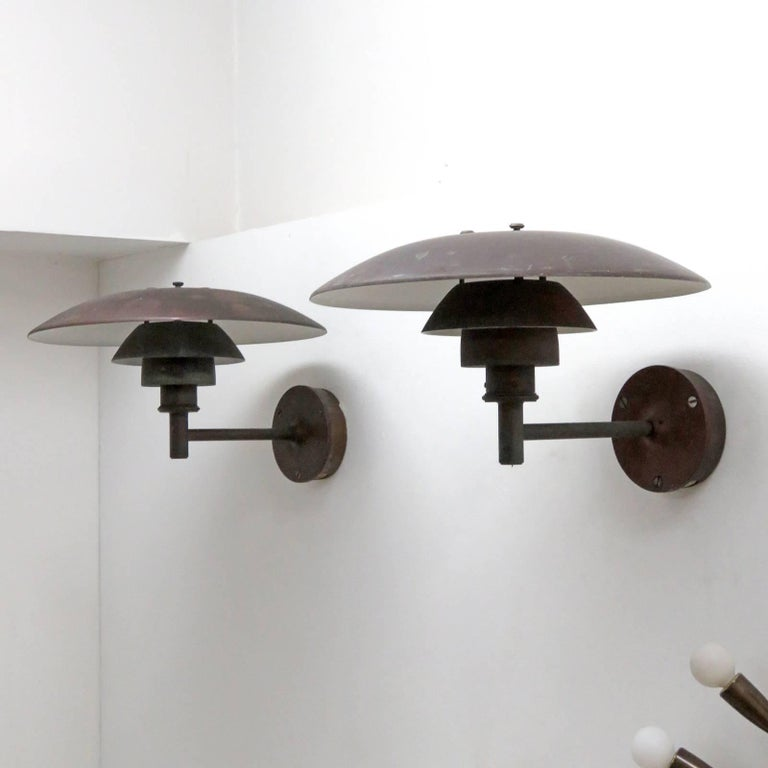 Danish Poul Henningsen PH 4½/3 Wall Lights For Sale