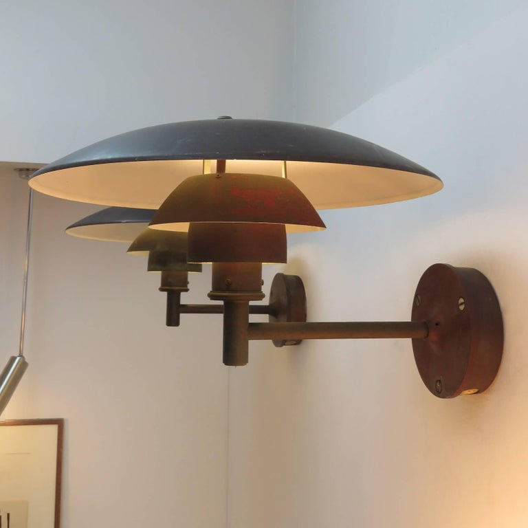 Poul Henningsen PH 4½/3 Wall Lights For Sale 2