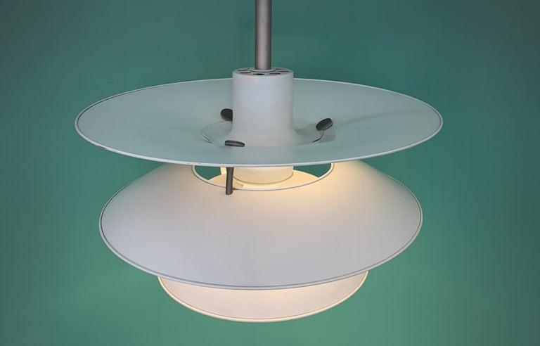 Danish Poul Henningsen PH 5 1/2 4 Pendant Lightning Louis Poulsen Denmark Midcentury For Sale