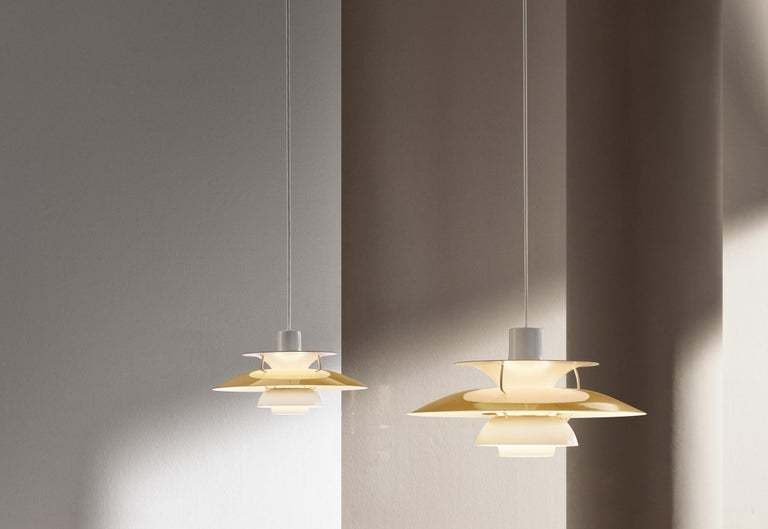 Poul Henningsen PH 5 brass pendant for Louis Poulsen. Poul Henningsen introduced his iconic PH 5 pendant light in 1958. To celebrate, Louis Poulsen is putting out this special 60th Anniversary edition in brass. Six decades later, the PH 5 remains