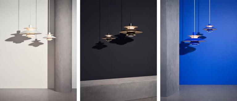 Danish Poul Henningsen PH 5 Pendant for Louis Poulsen in All Black For Sale
