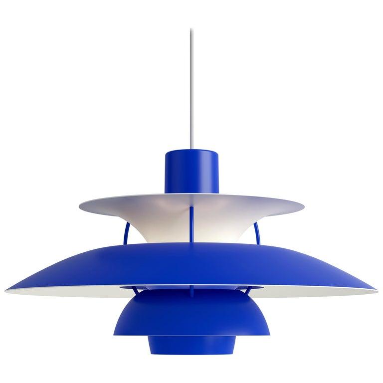 Poul Henningsen PH 5 Pendant for Louis Poulsen in All Blue For Sale