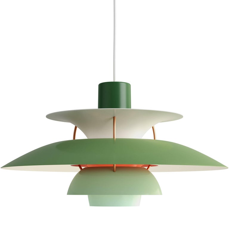 Poul Henningsen PH 5 Pendant for Louis Poulsen in Green For Sale