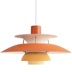 Poul Henningsen PH 5 Pendant for Louis Poulsen in Orange