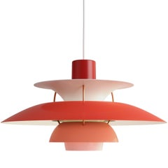 Poul Henningsen PH 5 Pendant for Louis Poulsen in Red