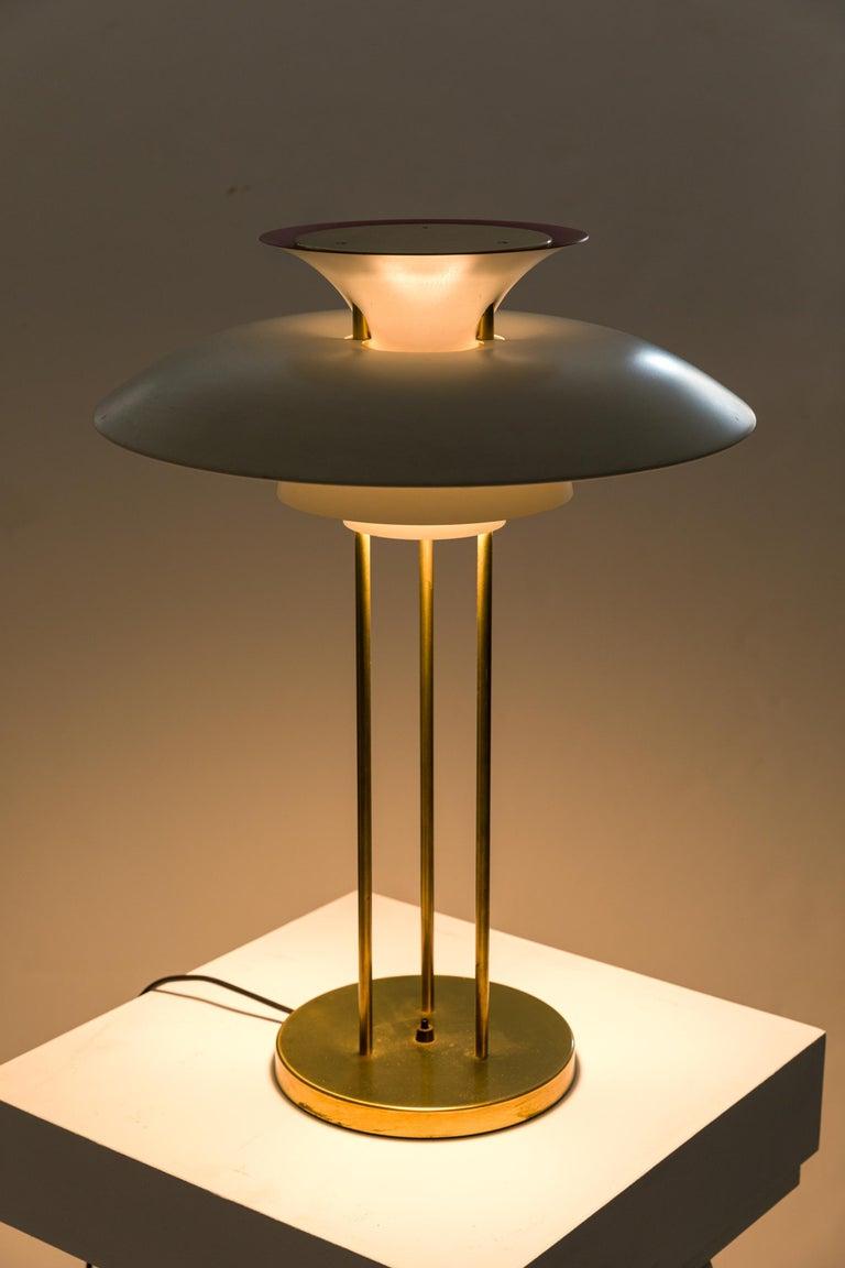 Aluminum Poul Henningsen PH 5 Table Lamps for Louis Poulsen, Denmark, 1970s For Sale