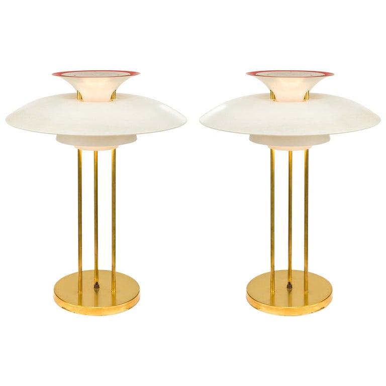 Poul Henningsen PH 5 Table Lamps for Louis Poulsen, Denmark, 1970s For Sale