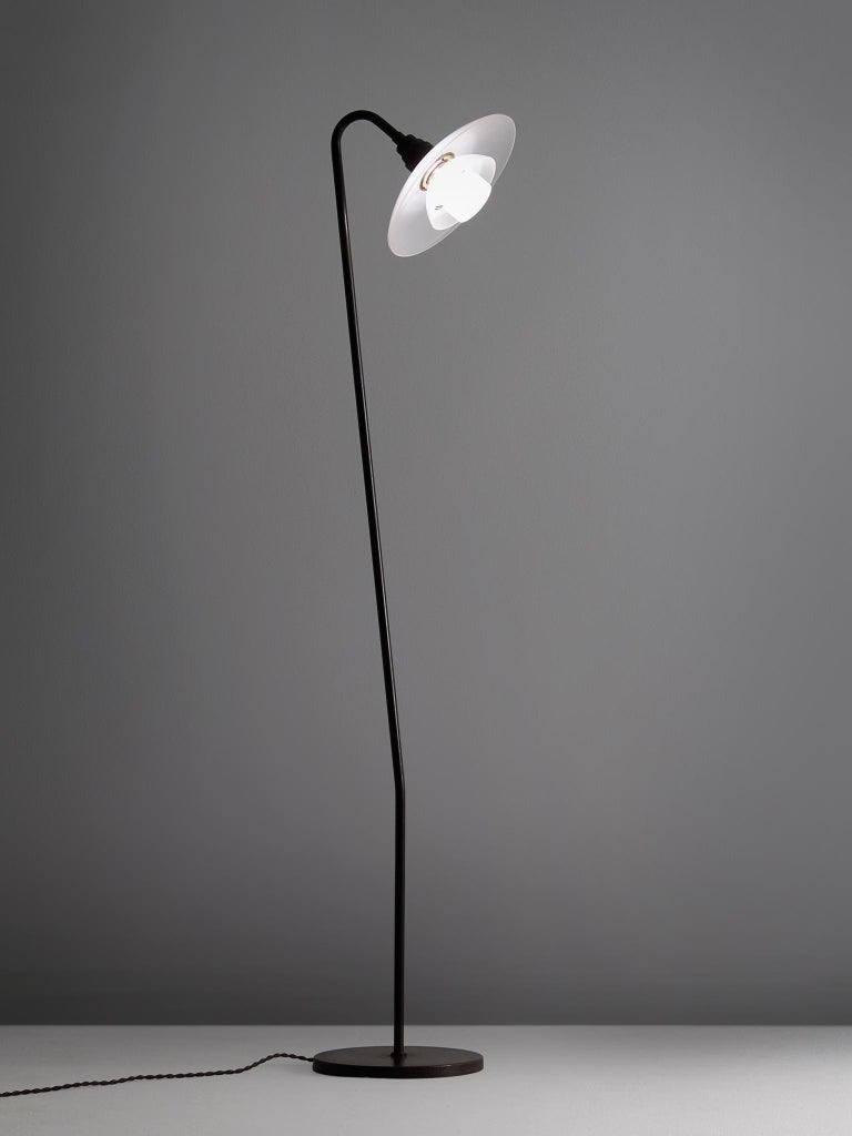 PH-7 floor lamp, in metal and glass, by Poul Henningsen for Louis Poulsen, Denmark 1933. 