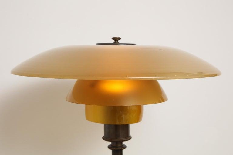 Poul Henningsen 'PH', Early Table Light, 4/3 Amber Shades, Pat. Appl, 1929 1