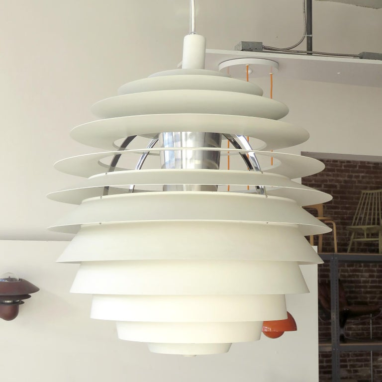 Scandinavian Modern Poul Henningsen Ph Louvre Pendant Light For Sale