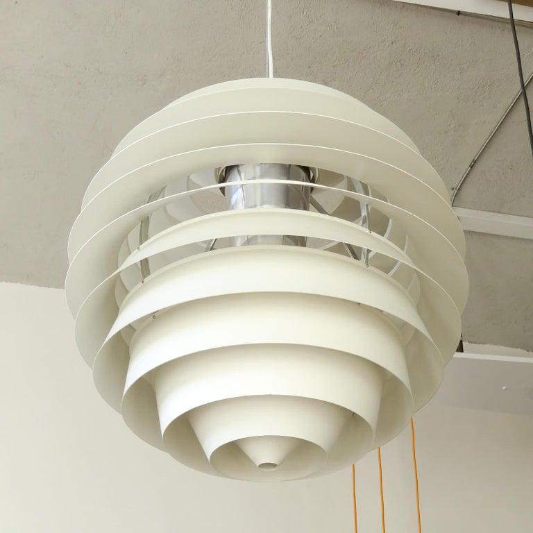 Danish Poul Henningsen Ph Louvre Pendant Light For Sale