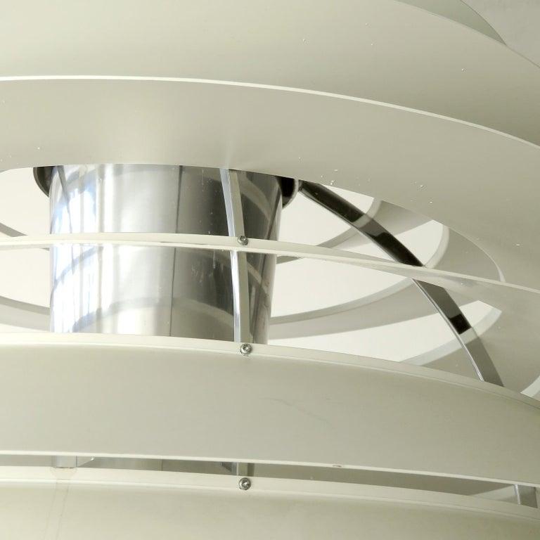 Enameled Poul Henningsen Ph Louvre Pendant Light For Sale