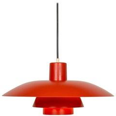 Poul Henningsen Ph4 Pendant Lights in Orange for Louis Poulsen, Denmark